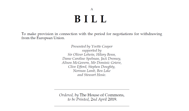 MPs seek to stop no-deal Brexit by tabling article 50 bill