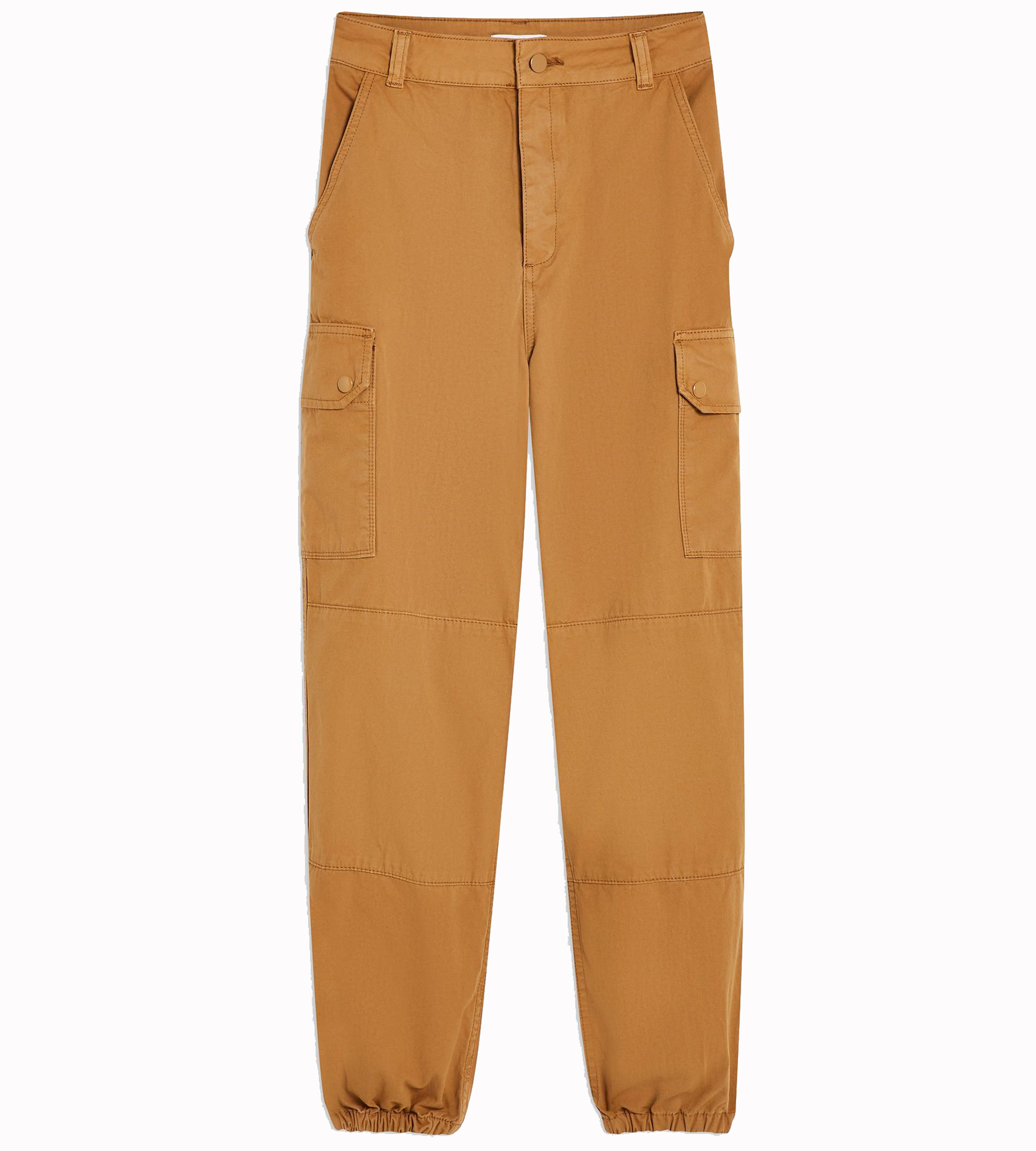 Topshop Stone Cuffed Utility Cargo Trousers