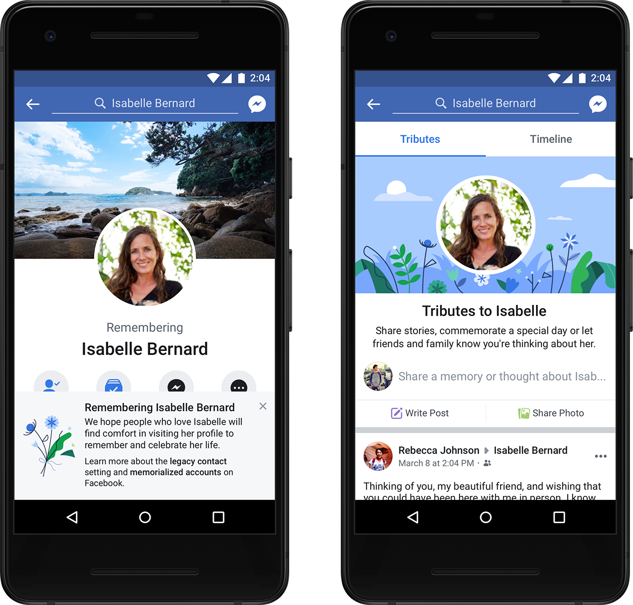 Facebook adds tribute section, new tools for memorialized profiles