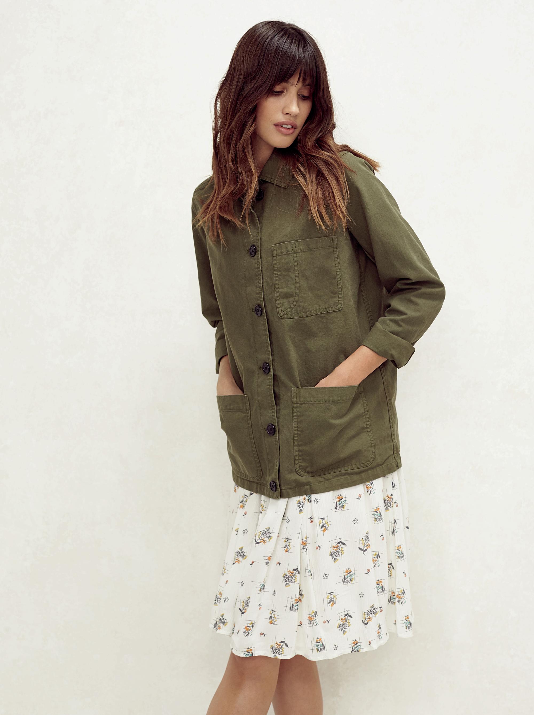 Fatface Khaki Worker Jacket; Karen Check Ditsy Dress