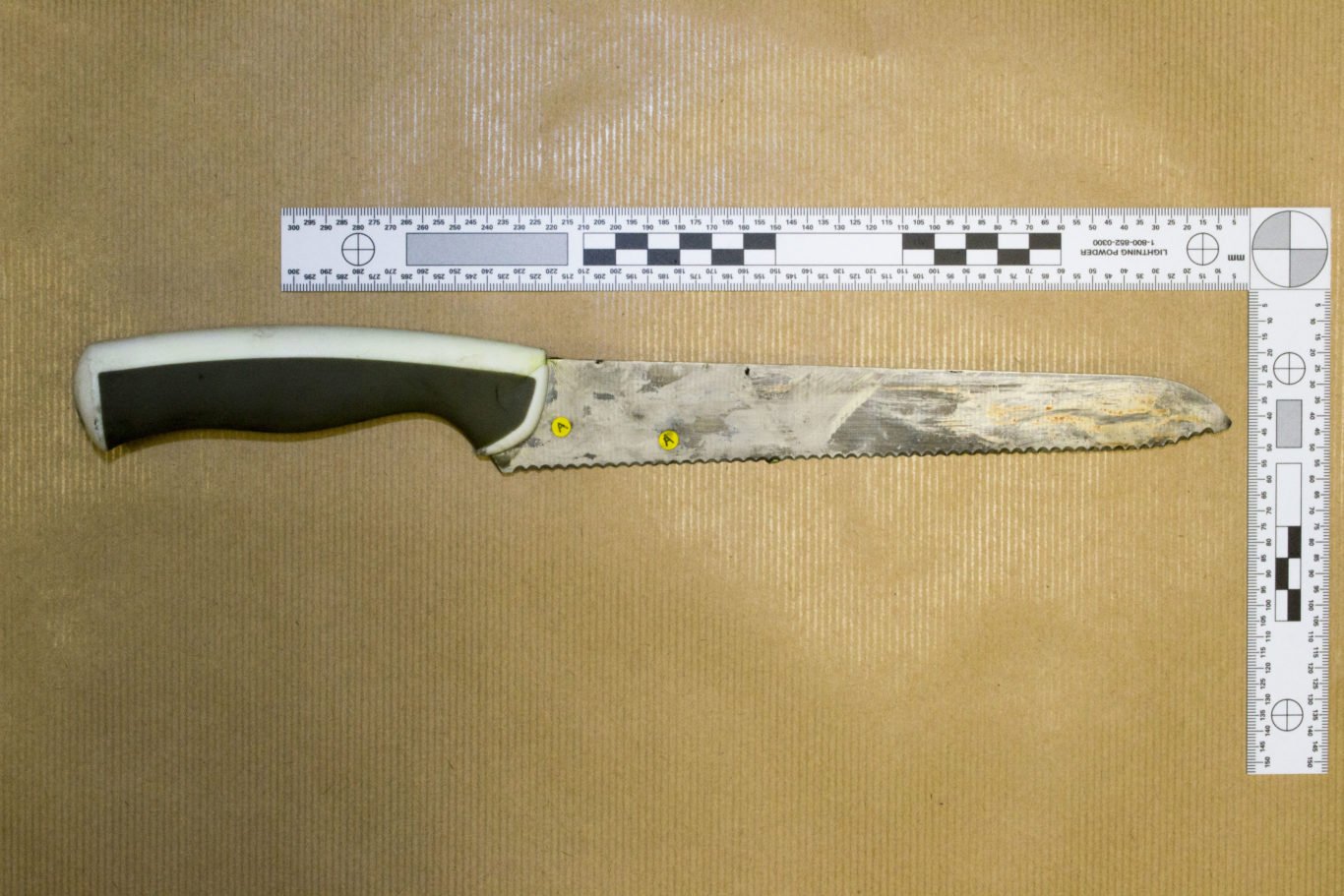 (The knife recovered from the scene (Met Police/PA)