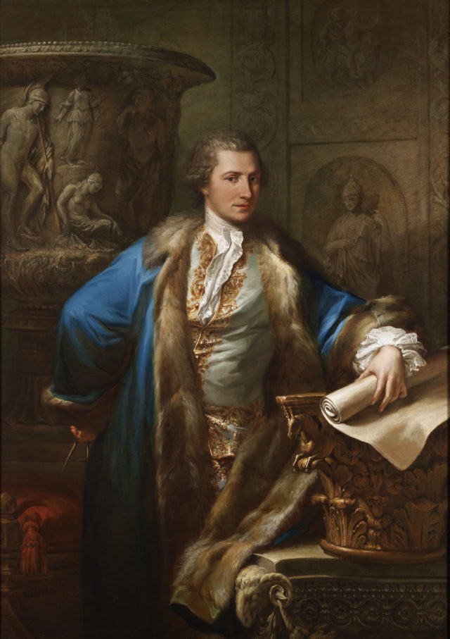 Portrait of 18th century architect James Adam