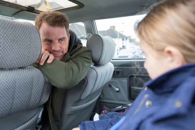 Sean Slater picking up Amy