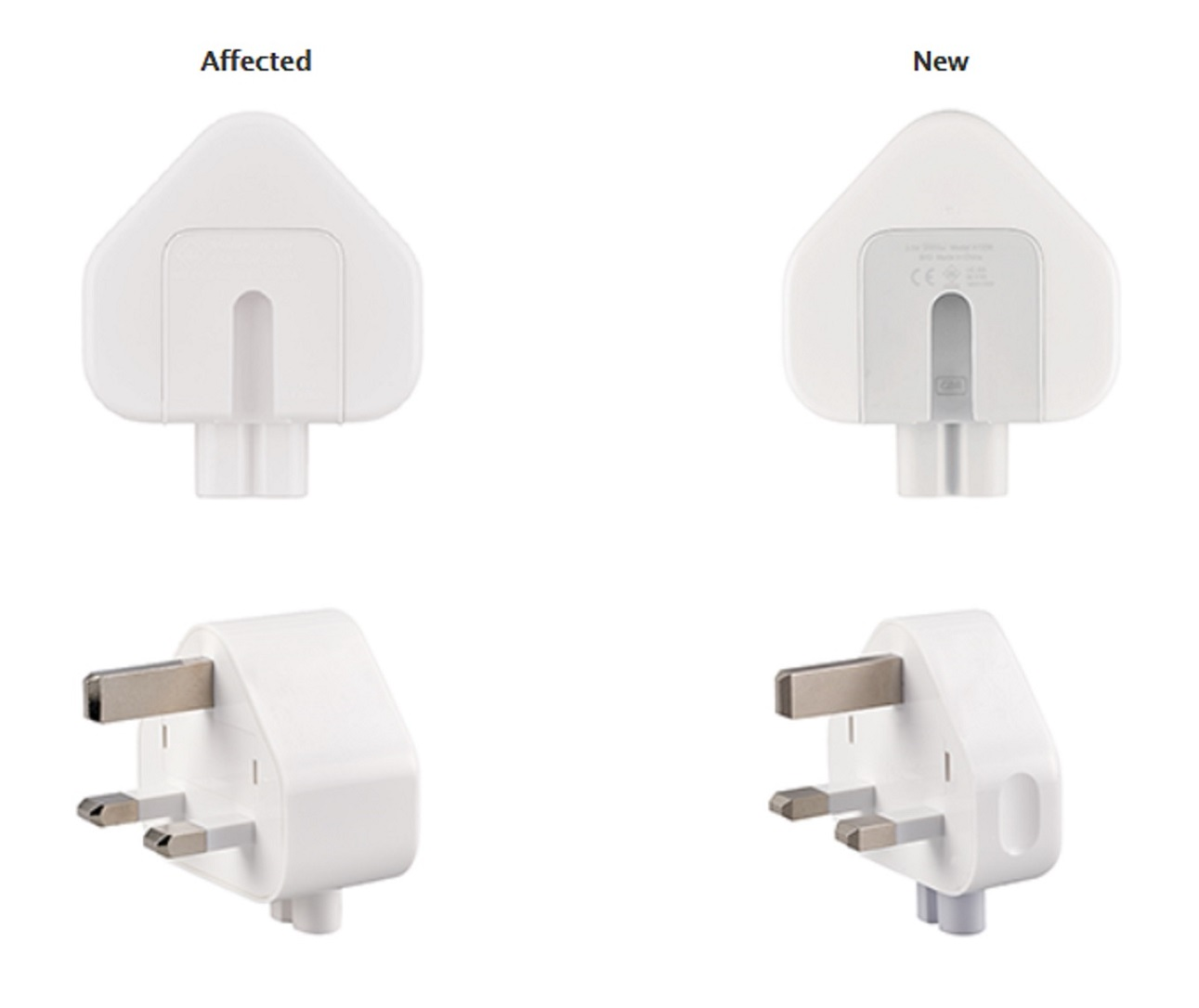 Apple recalls wall plugs used in UK, Hong Kong, and Singapore