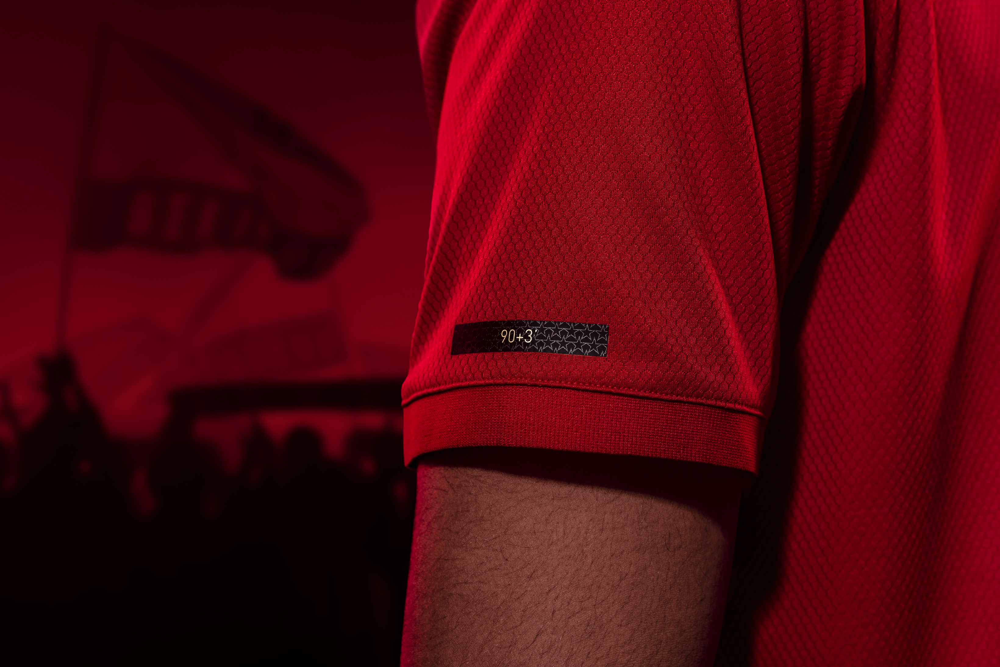 The strip also commemorates the minutes of the goals scored by Sheringham and Solskjaer (Man Utd/Adidas/PA)