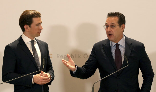 Sebastian Kurz and Heinz-Christian Strache