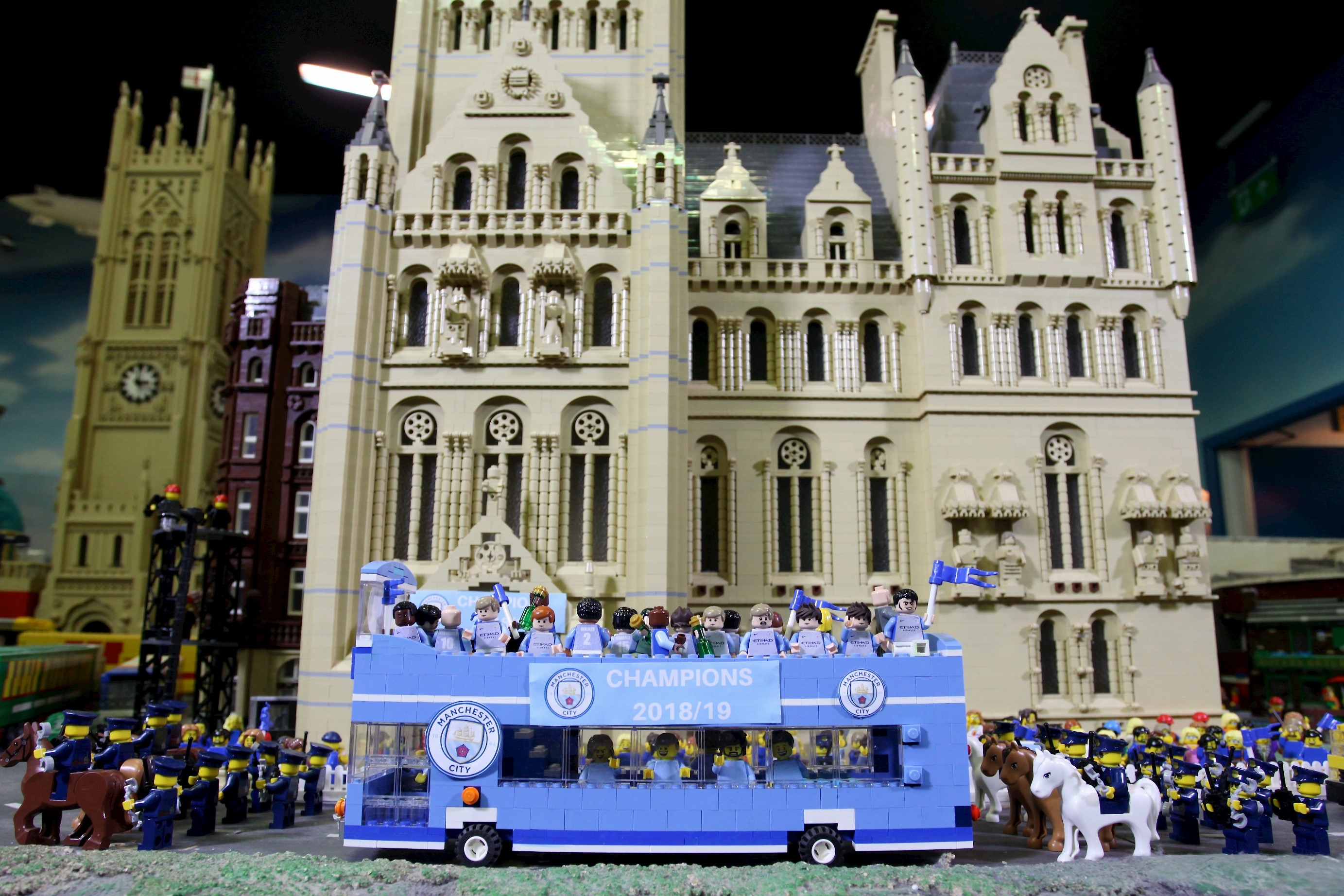 Manchester City FC celebrations at Lego Discovery Centre Manchester