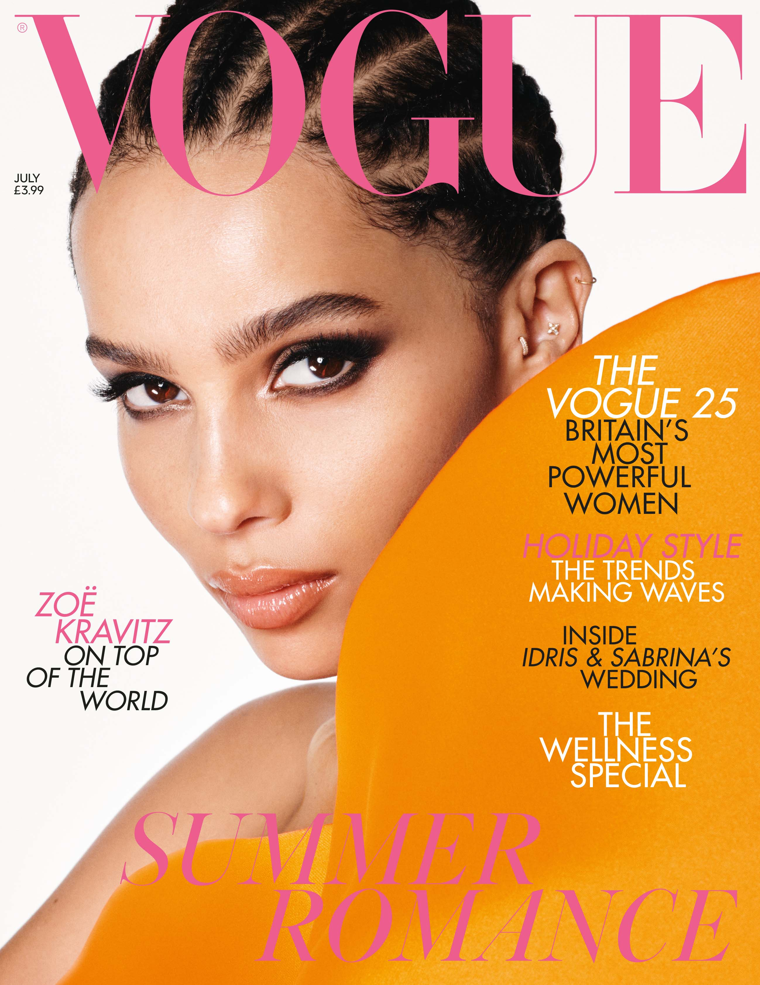 The July issue of British Vogue