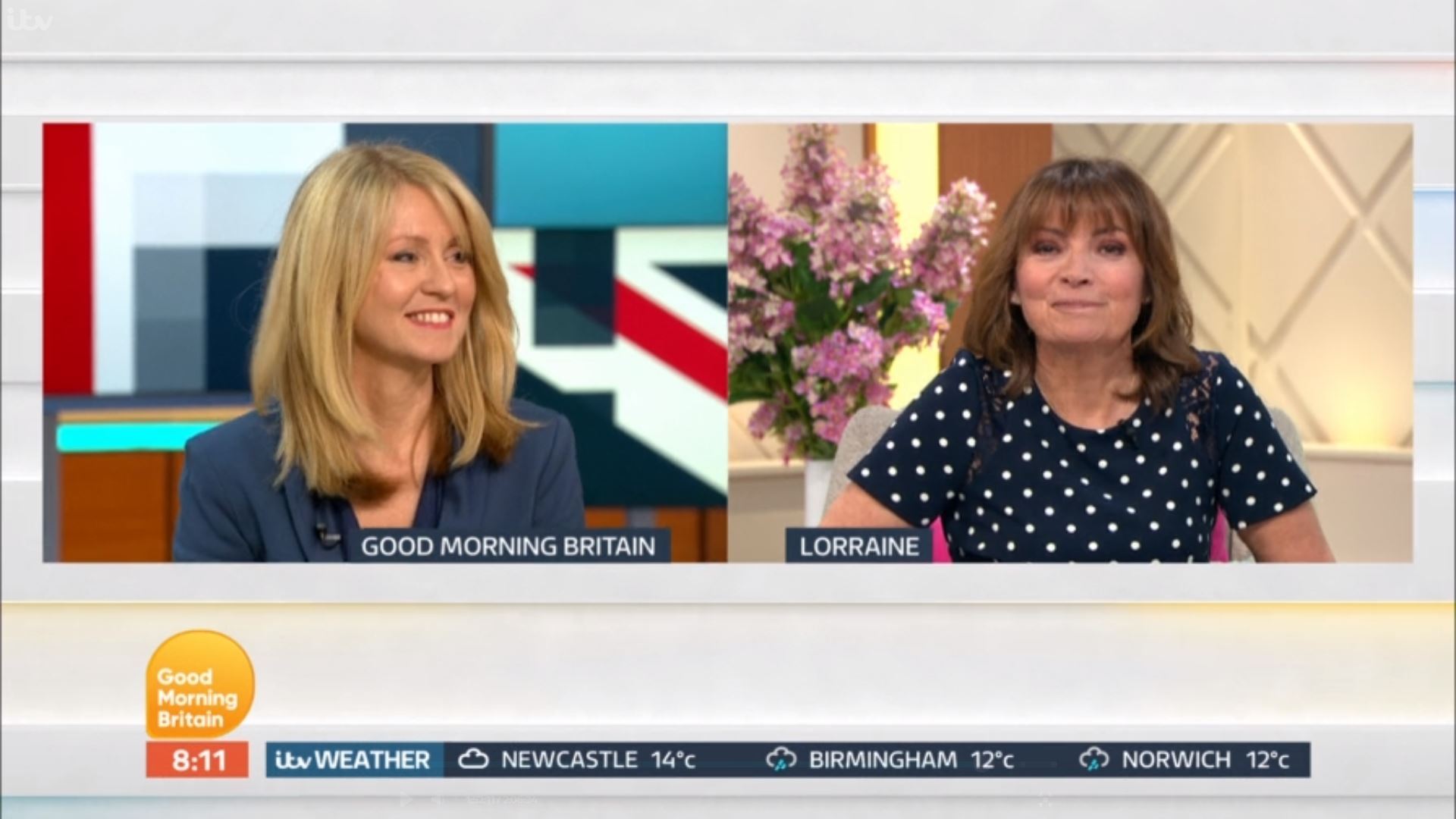 Lorraine Kelly completely pars former colleague Esther McVey live on TV