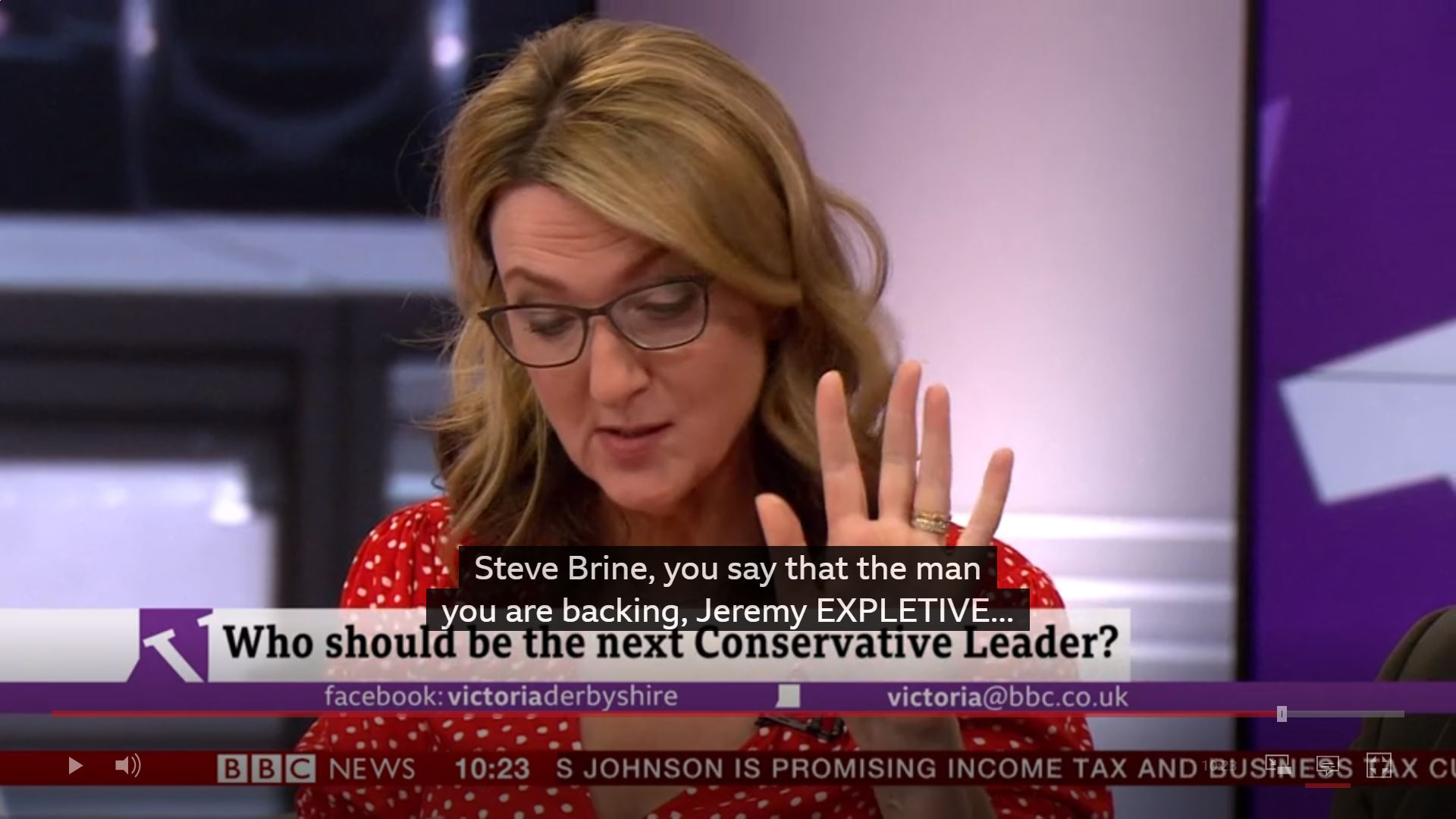 BBC's Victoria Derbyshire latest victim over Jeremy Hunt's name