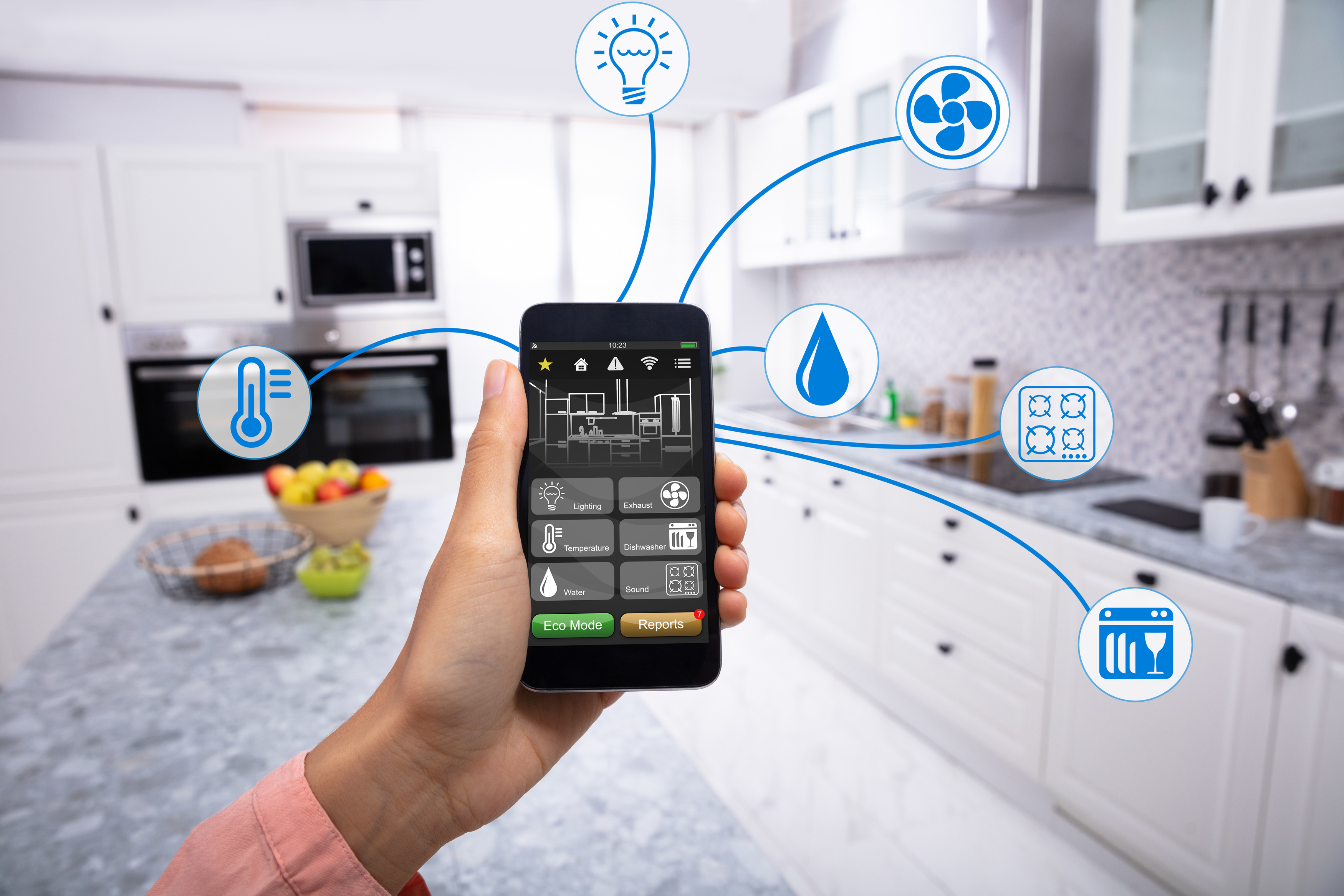 A smart, connected kitchen