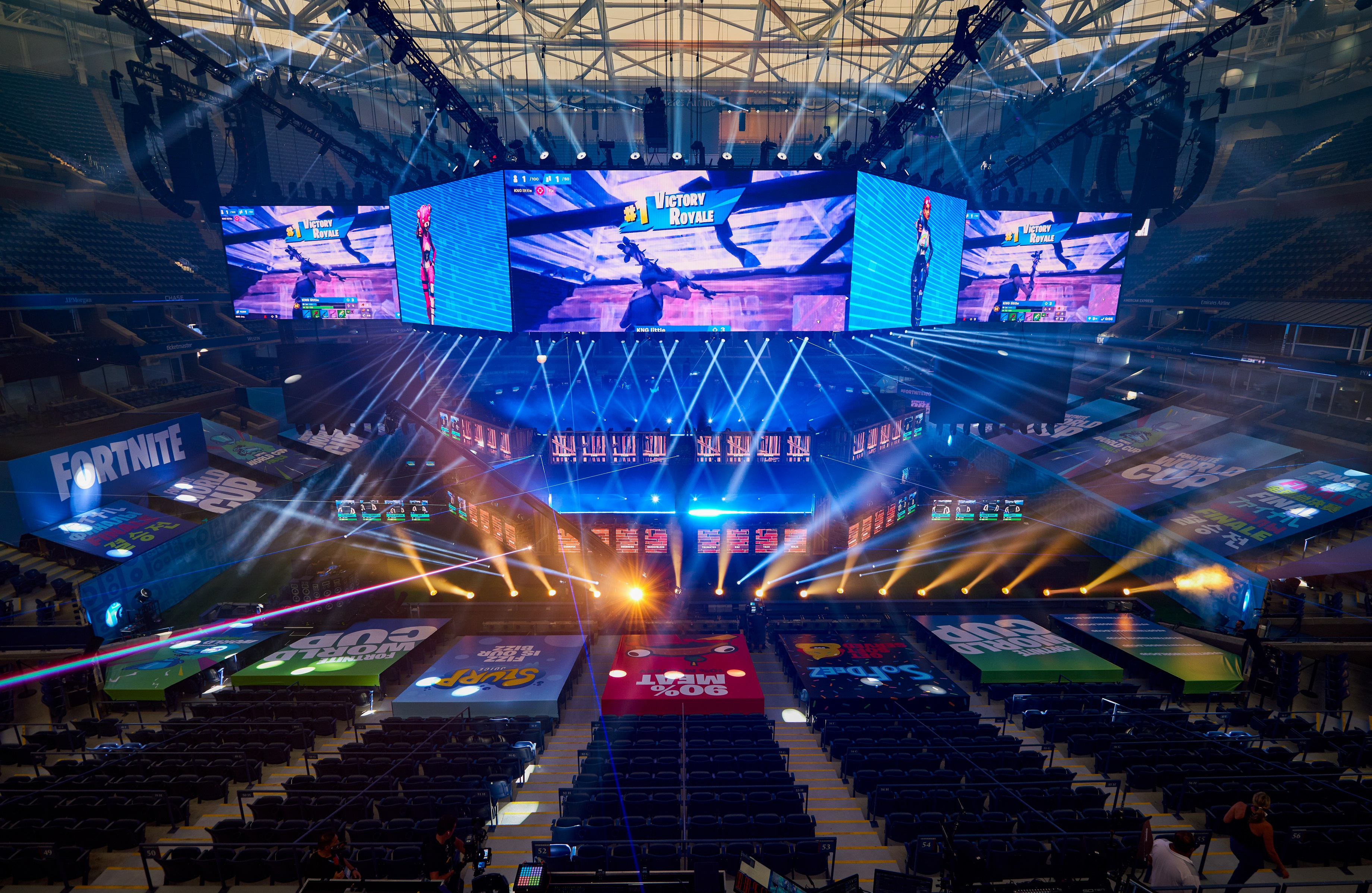 The Arthur Ashe Stadium in New York hosts the Fortnite World Cup finals