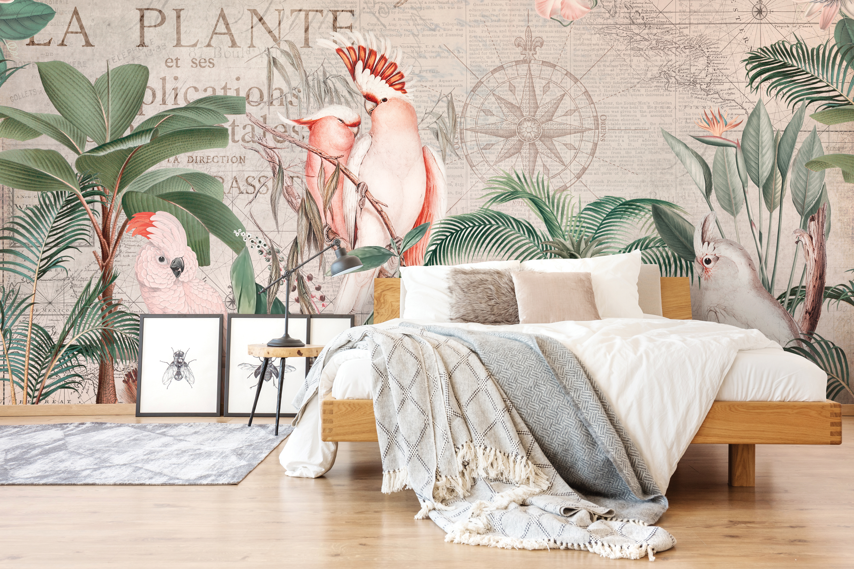 Nostalgic Cockatoo Jungle Wallpaper Mural, by Andrea Haase, from £32 per square metre, Wallsauce (Wallsauce/PA)