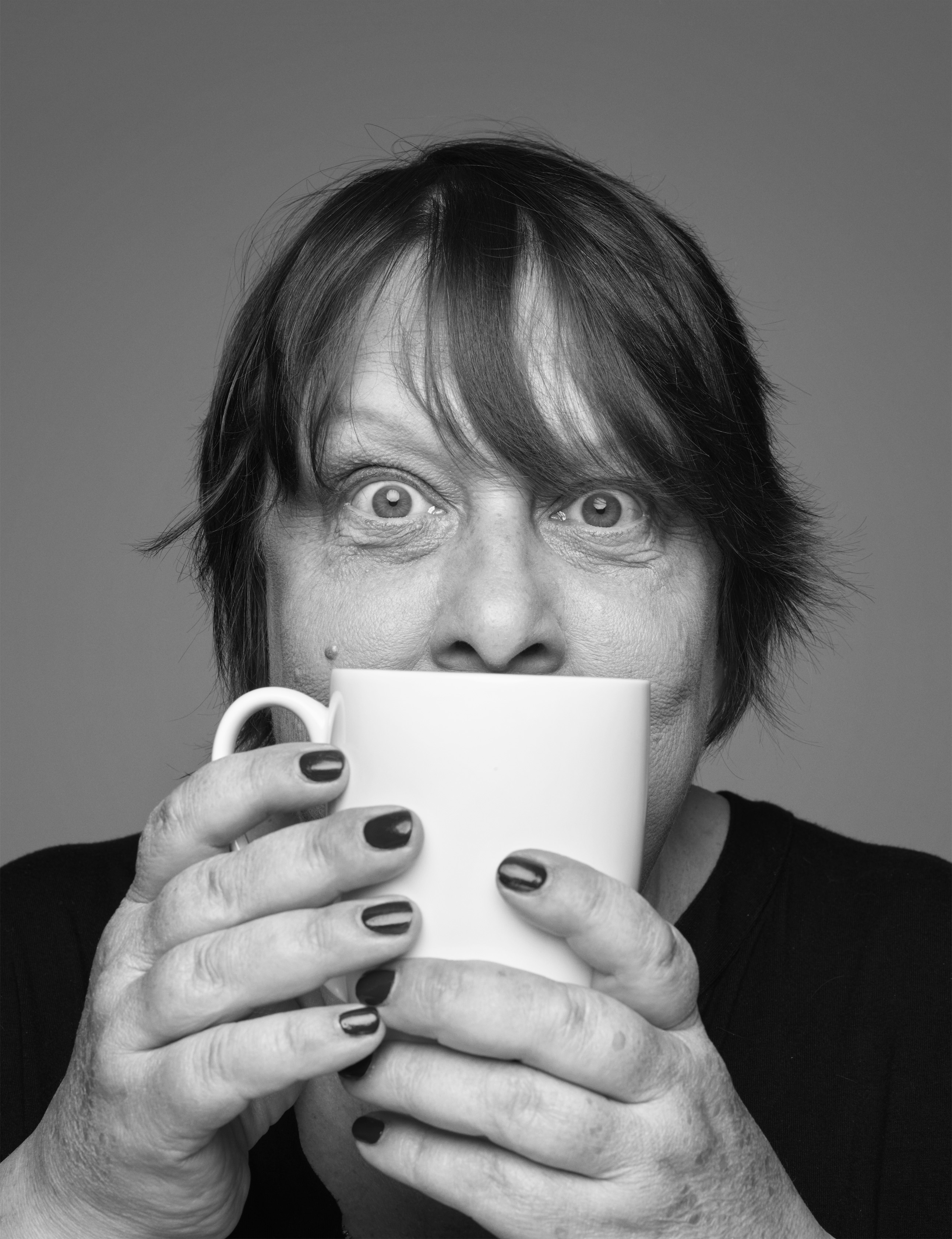 Kathy Burke has been photographed by Rankin