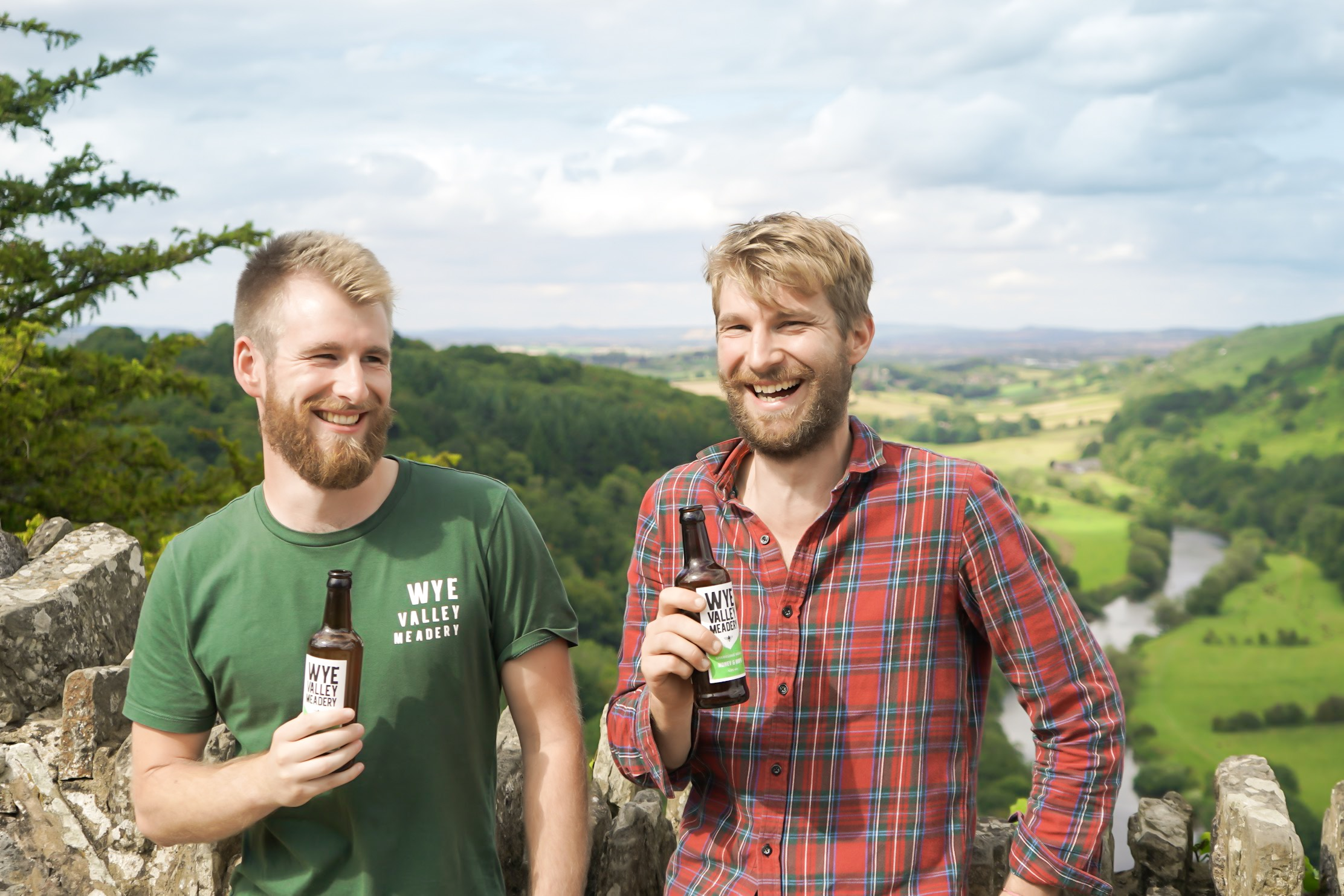 Kit (left) and Matt (right) Newell launched their meadery in Chepstow, South Wales