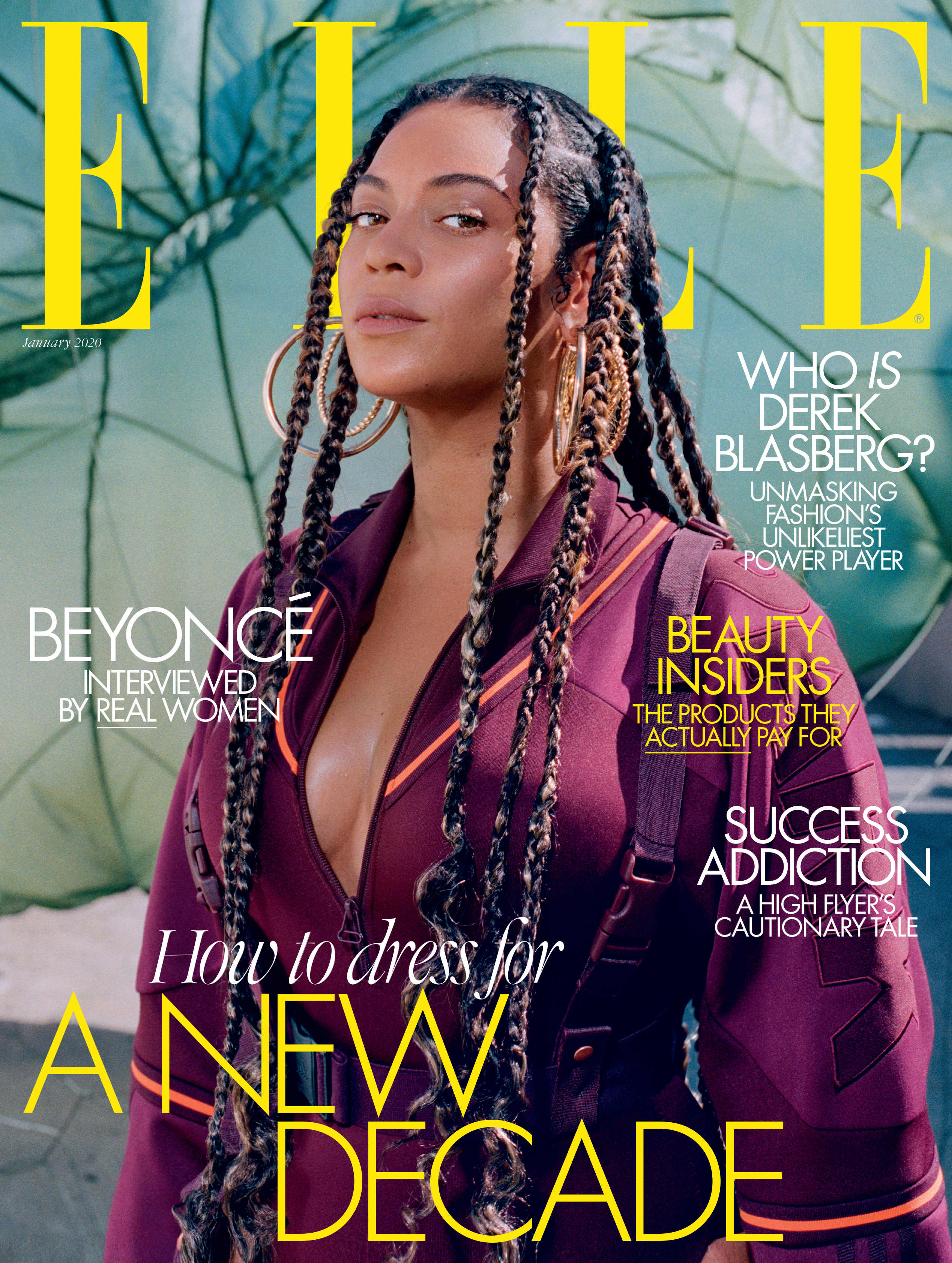 Beyonce on the cover of Elle UK magazine