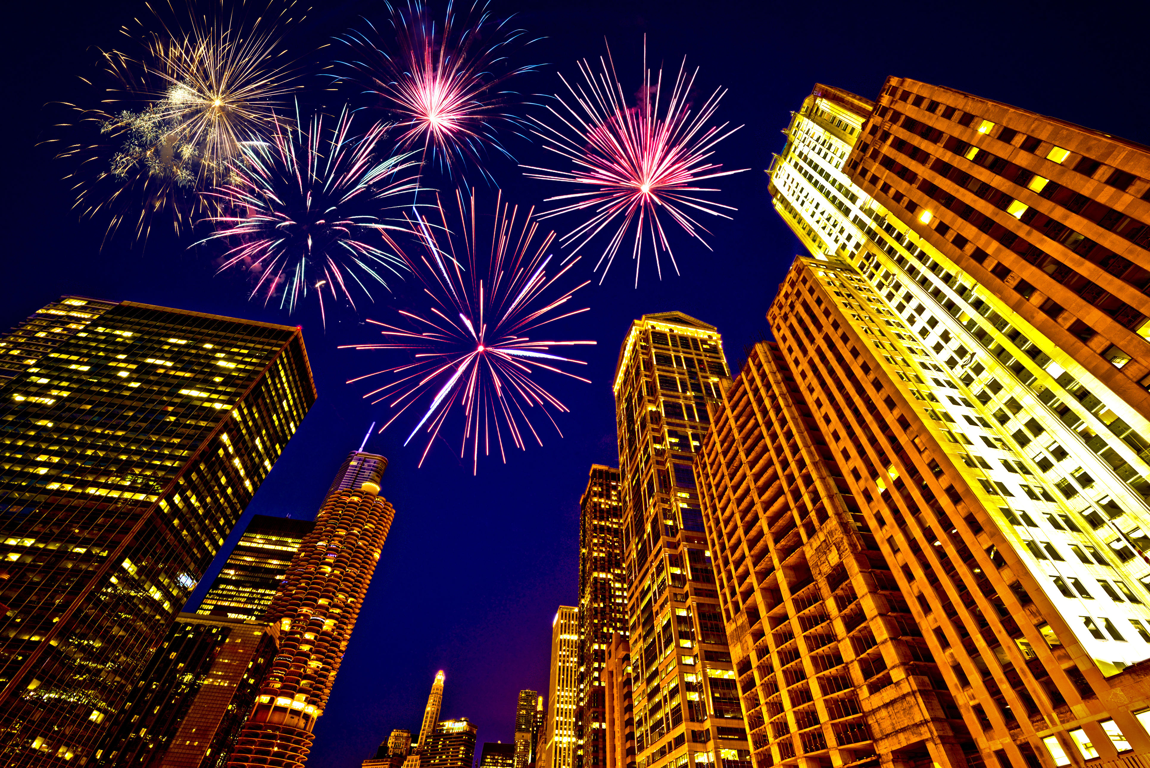 Fireworks over Chicago Illinois