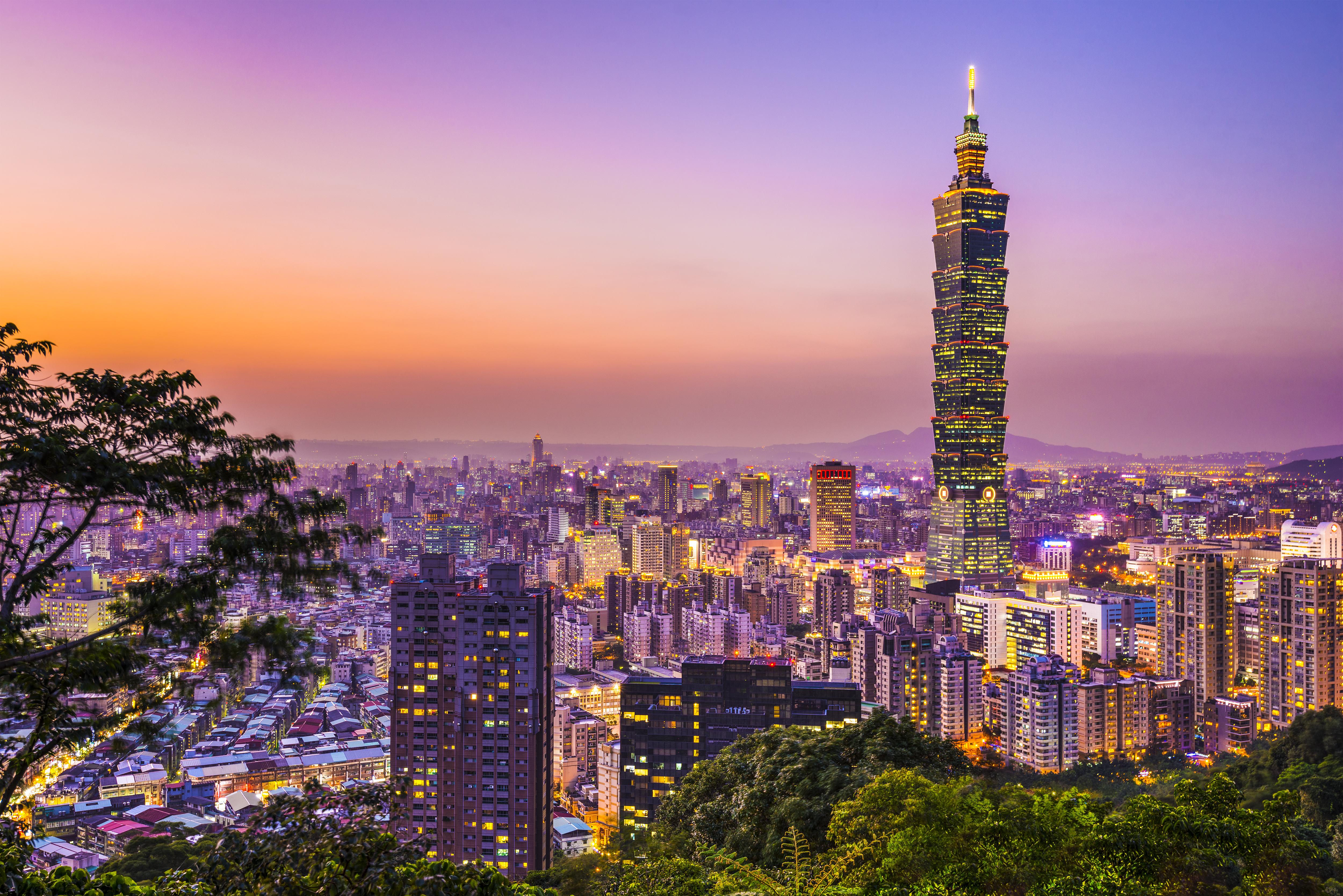 Taipei at dusk