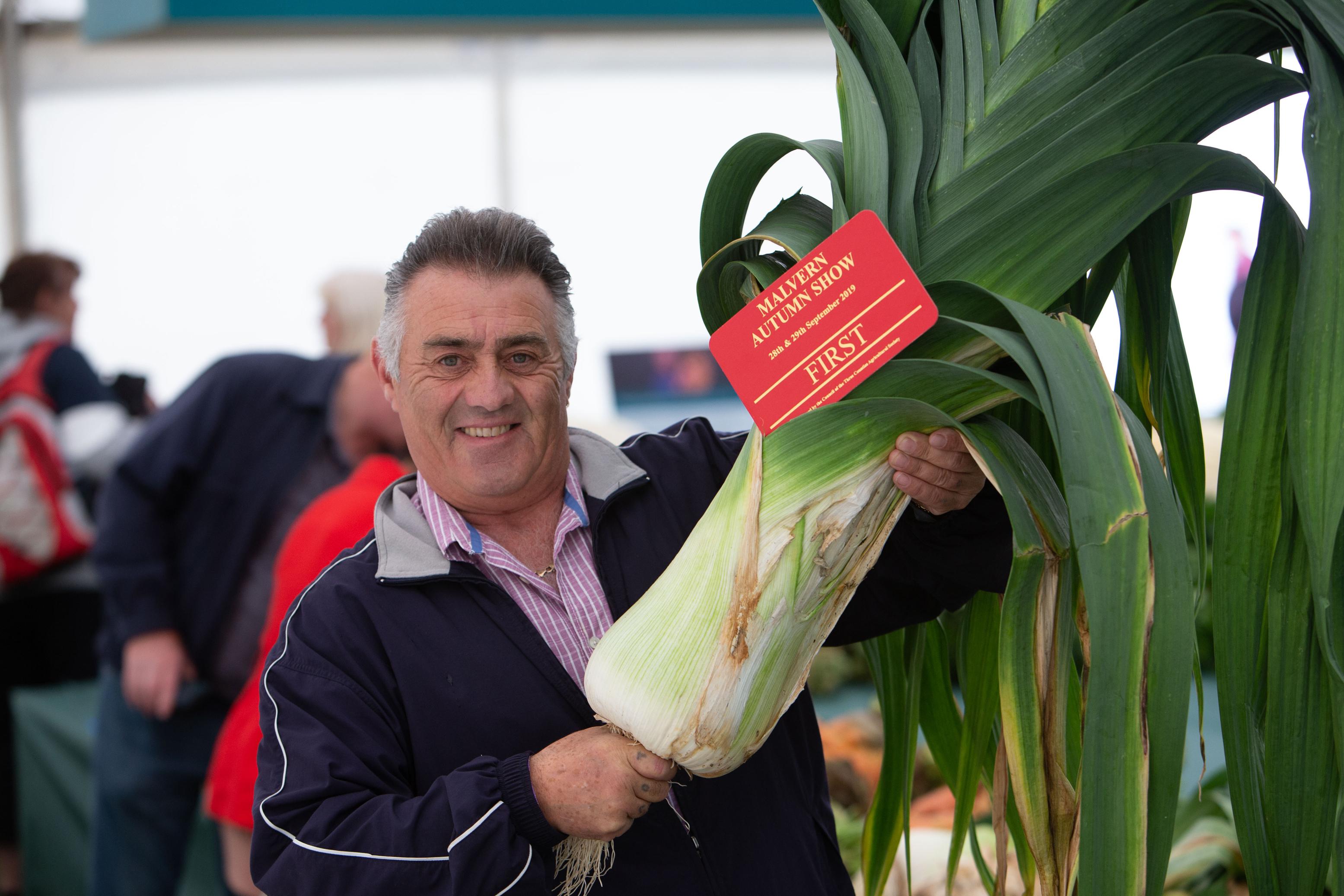 Giant veg at Malvern Autumn Show (Stuart Purfield/Three Counties Showground/PA)