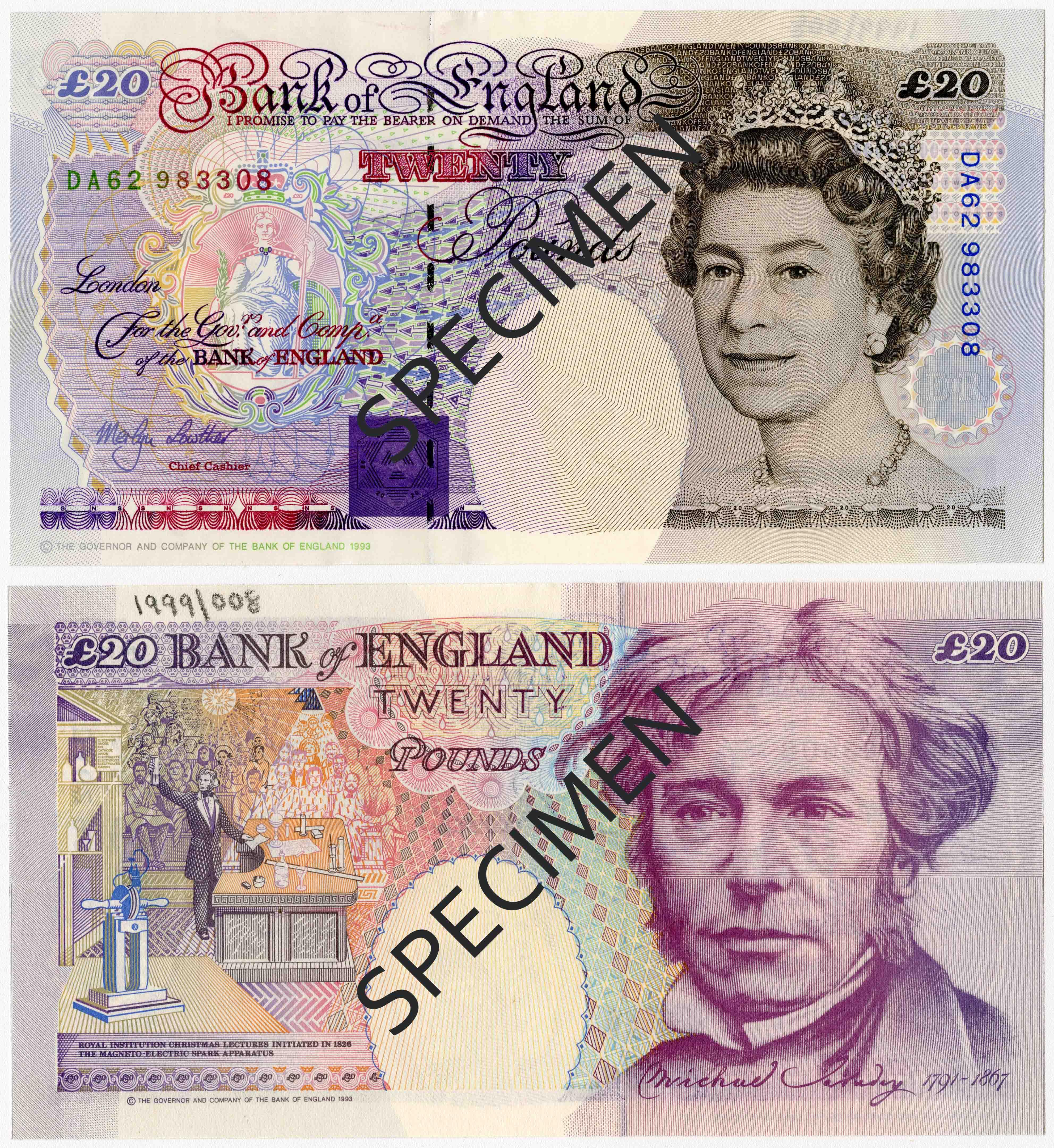 Michael Faraday £20 note