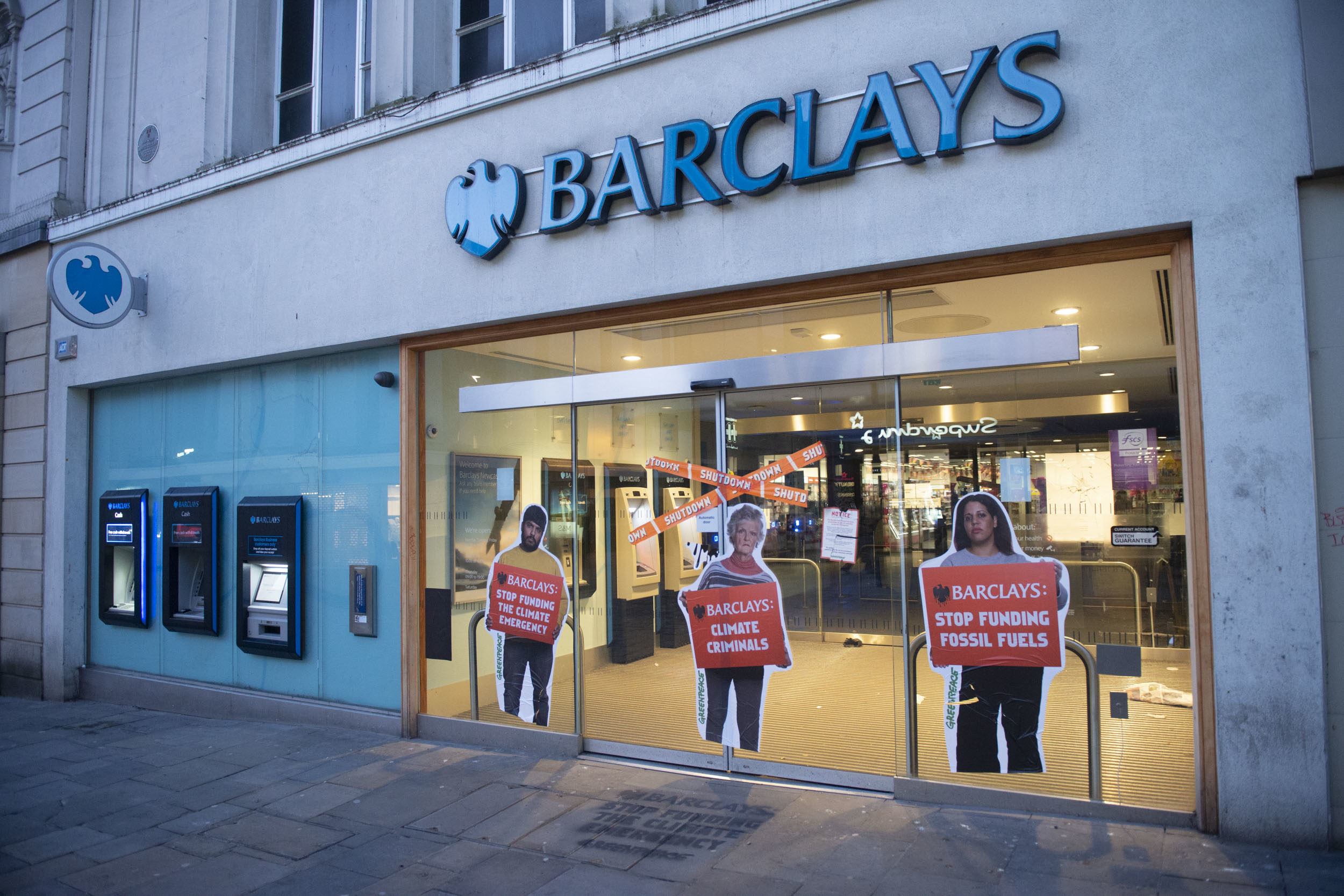 Greenpeace activists 'shut down' more than 95 Barclays branches in protest