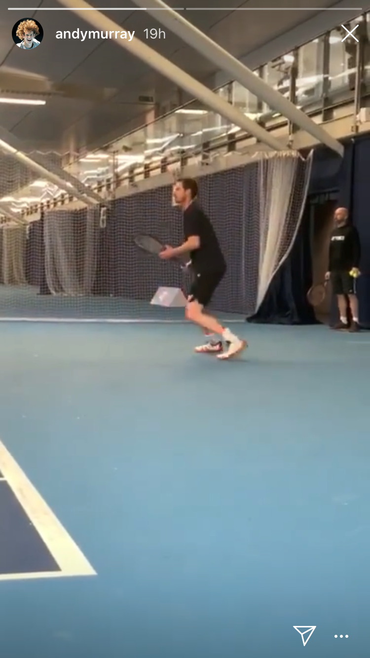 Andy Murray has posted footage of his practice sessions on social media