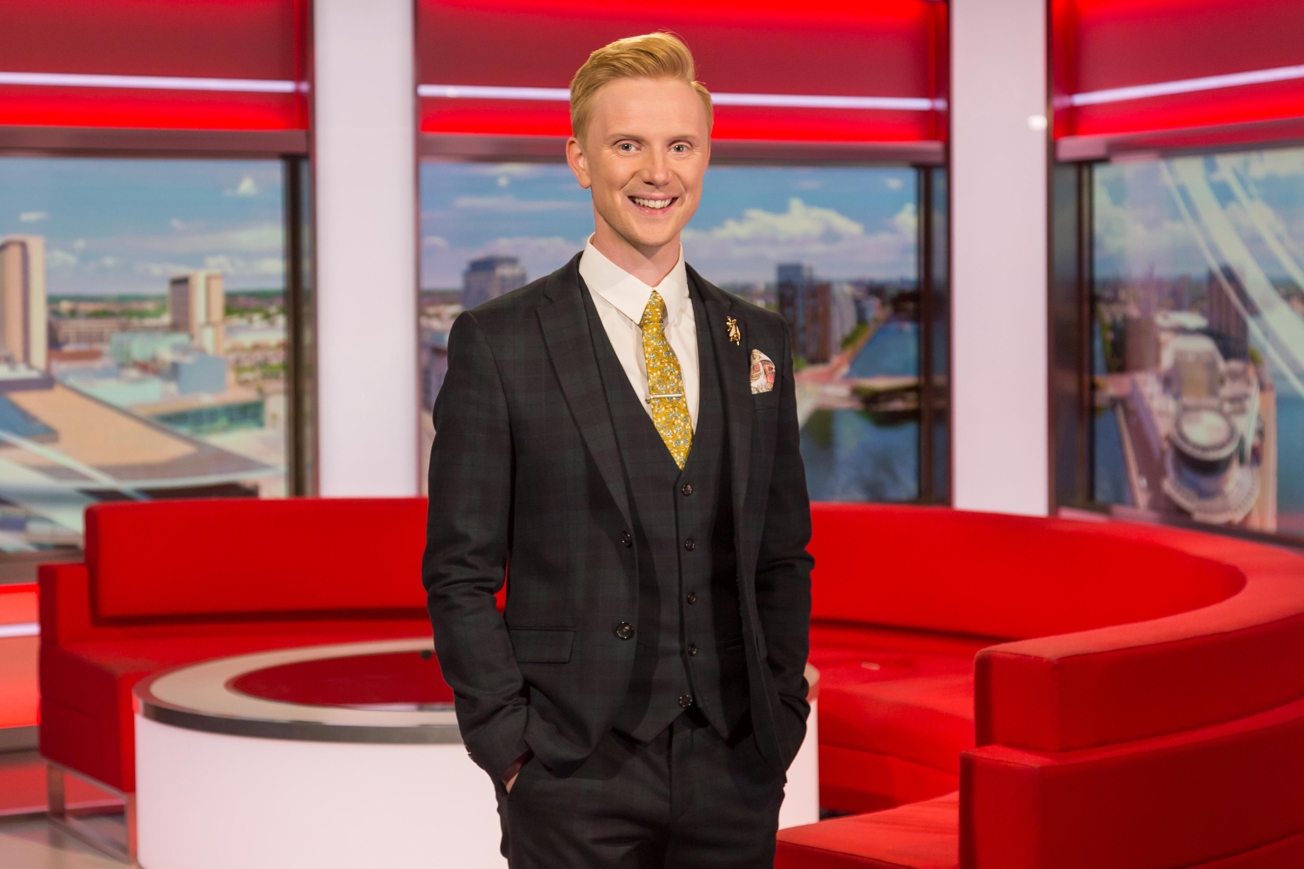 Welsh weatherman drums theme tune after presenting forecast