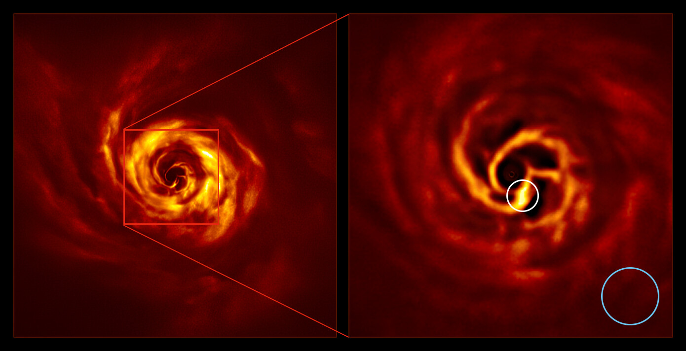 The images of the AB Aurigae star system