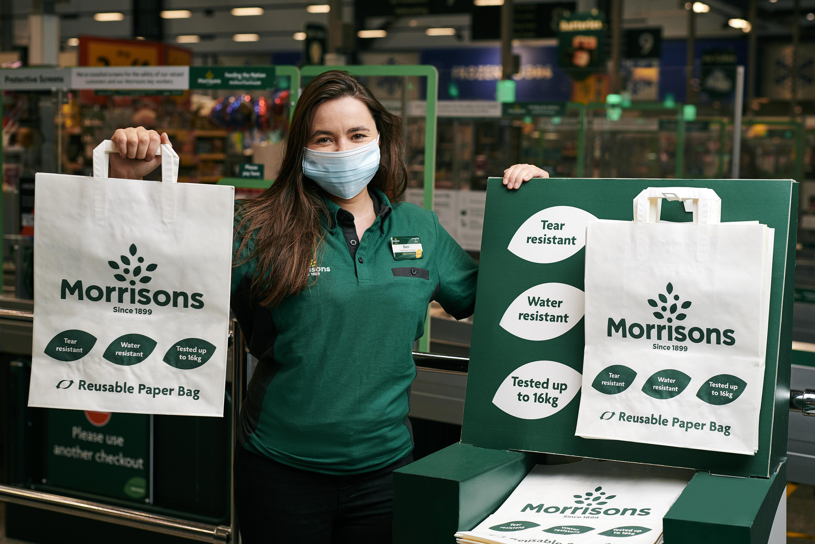 Morrisons could ditch reusable plastic bags