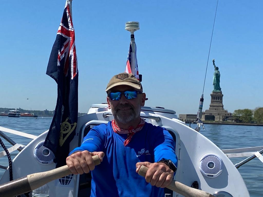 Ian Rivers a quitté New York en mai pour traverser l'Atlantique à la rame sans assistance (Ian Rivers/PA).