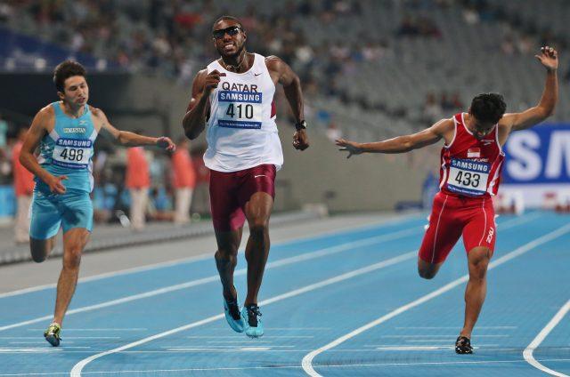 Qatar's Samuel Francis (Rob Griffith/AP)