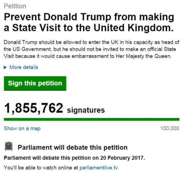MPs will debate the petition in the House of Commons on Monday