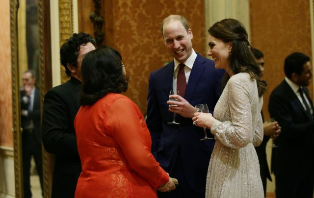 The Duke and Duchess of Cambridge during a reception to mark the launch of the UK-India Year of Culture 2017