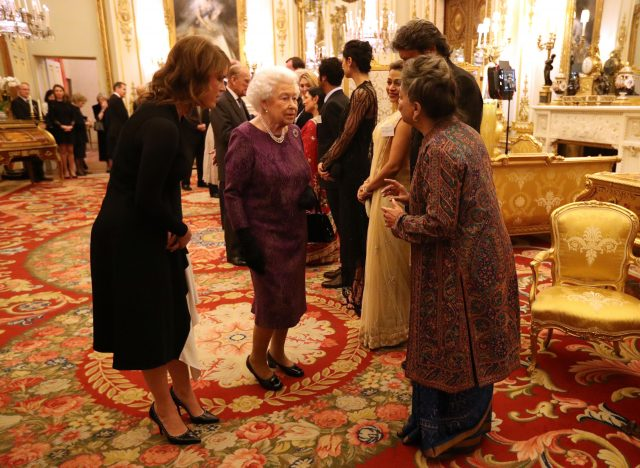 The Queen at a reception to mark the launch of the UK-India Year of Culture 2017 at Buckingham Palace