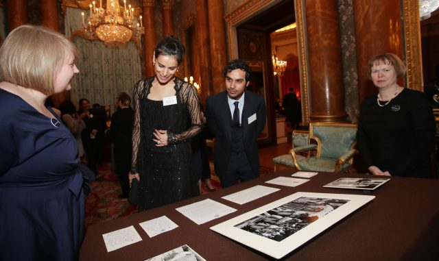 Neha Kapur and Kunal Nayyar during a reception to mark the launch of the UK-India Year of Culture 2017