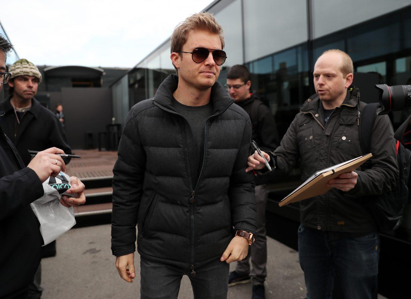 Nico Rosberg at testing in Barcelona