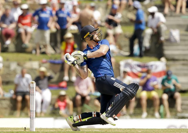 Ben Stokes bats during the first ODI ( Ricardo Mazalan/AP)