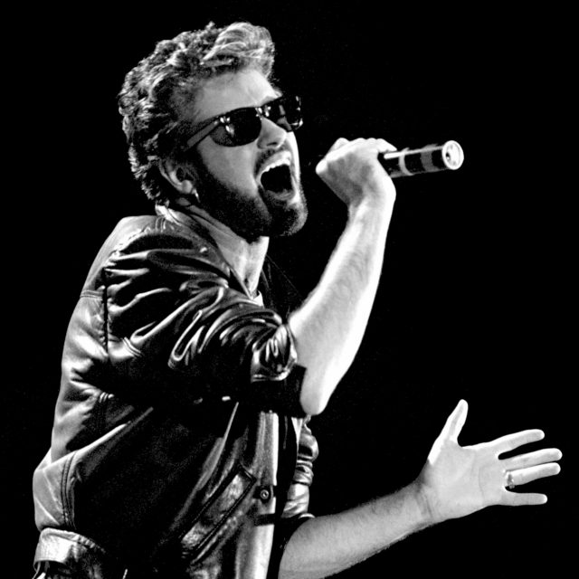George Michael pictured in 1985