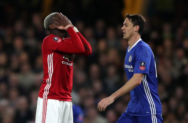 Paul Pogba (left) will be under scrutiny after an underwhelming display at Chelsea (Nick Potts/PA)