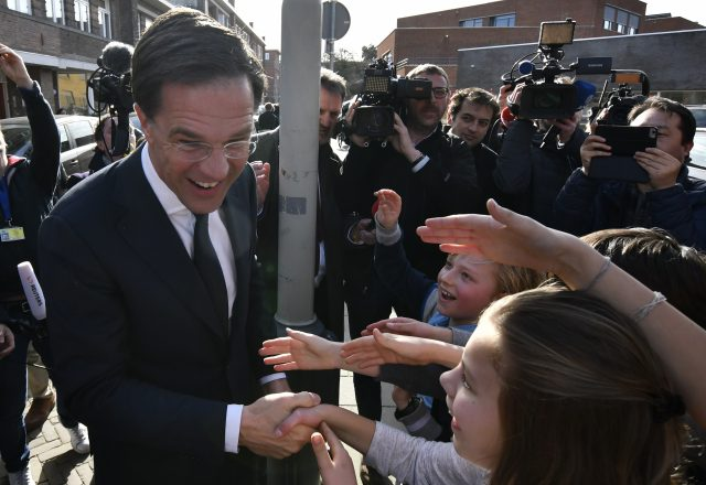 Rutte starts Dutch coalition talks after victory over firebrand Wilders