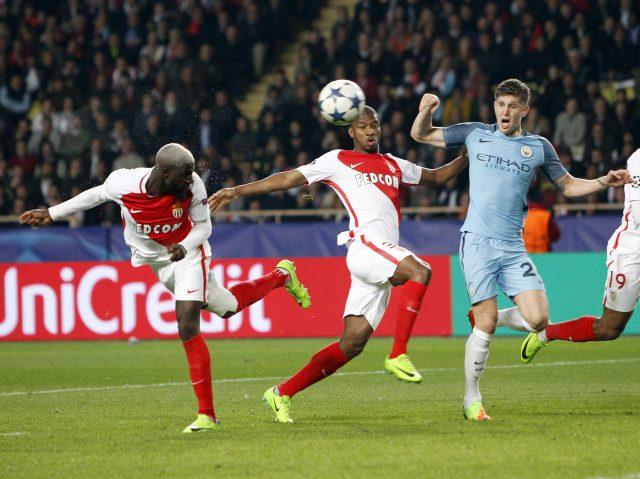 Tiemoue Bakayoko heads home Monaco's third goal