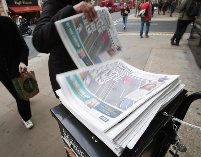 The former Chancellor will edit the Evening Standard four days a week (Yui Mok/PA)