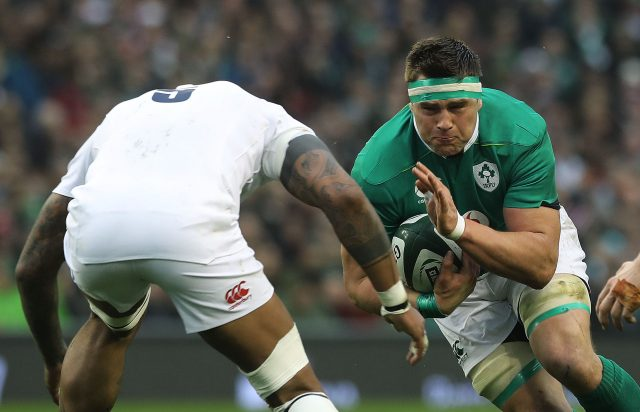 Ireland's CJ Stander tackled (Lorraine O'Sullivan/PA)