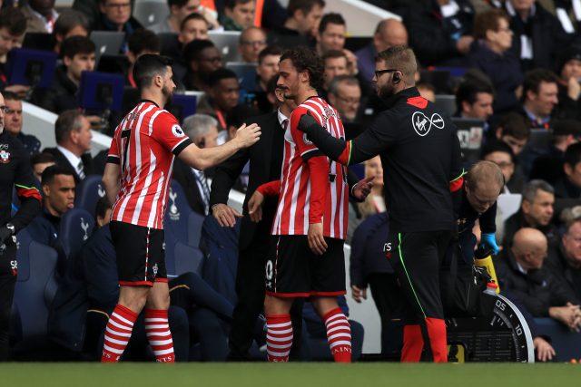 Manolo Gabbiadini was forced off through injury