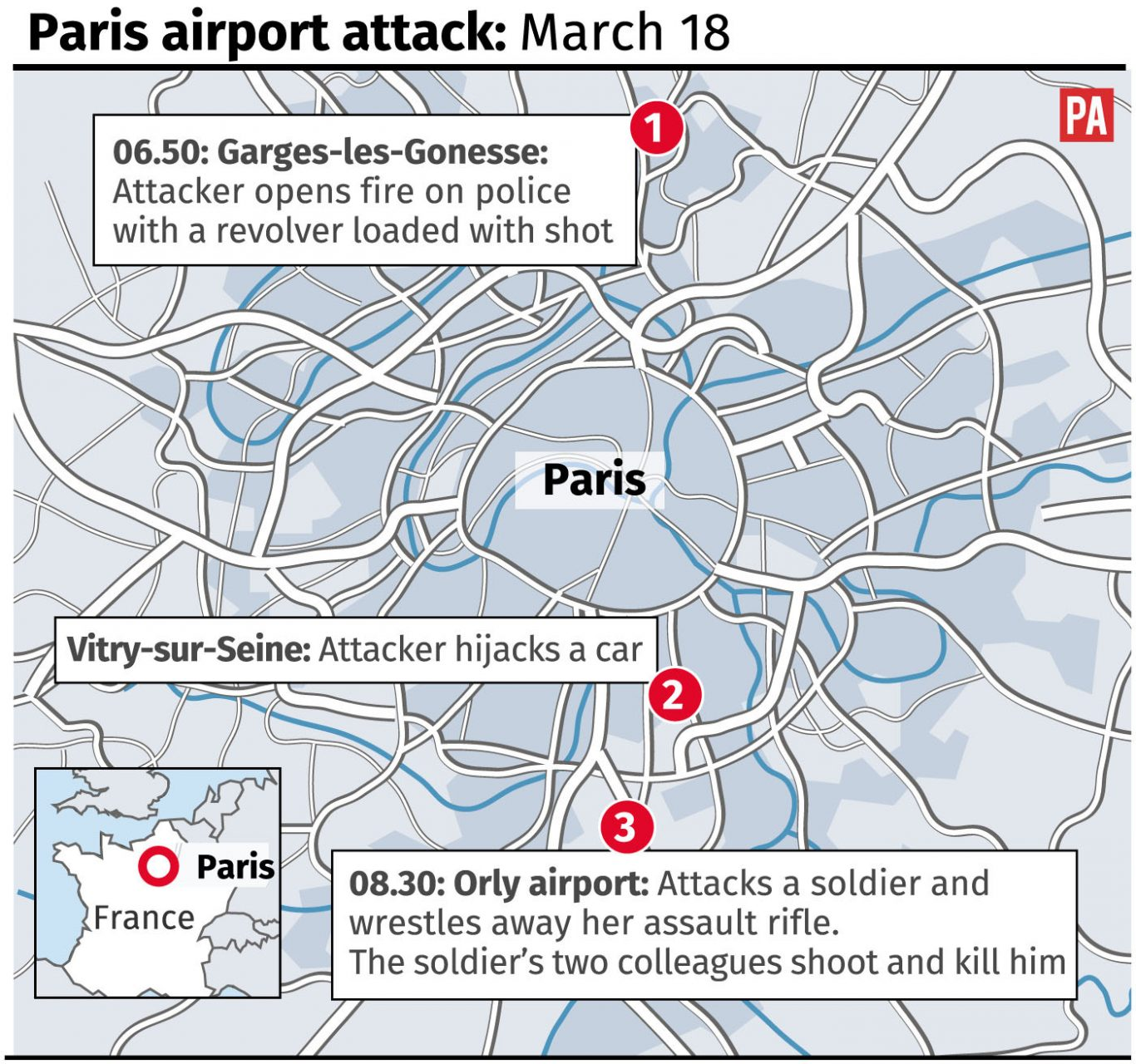 Orly airport attack locator.