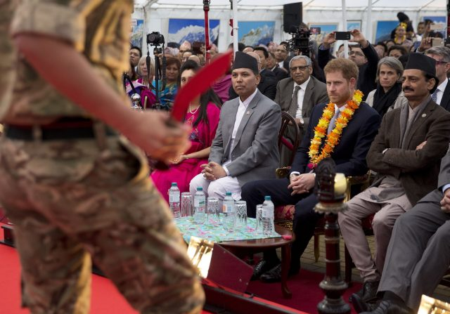 The event comes one year after Harry made his first trip to Nepal - a visit which coincided with the bicentenary of the signing of the Treaty of Segauli in March 1816