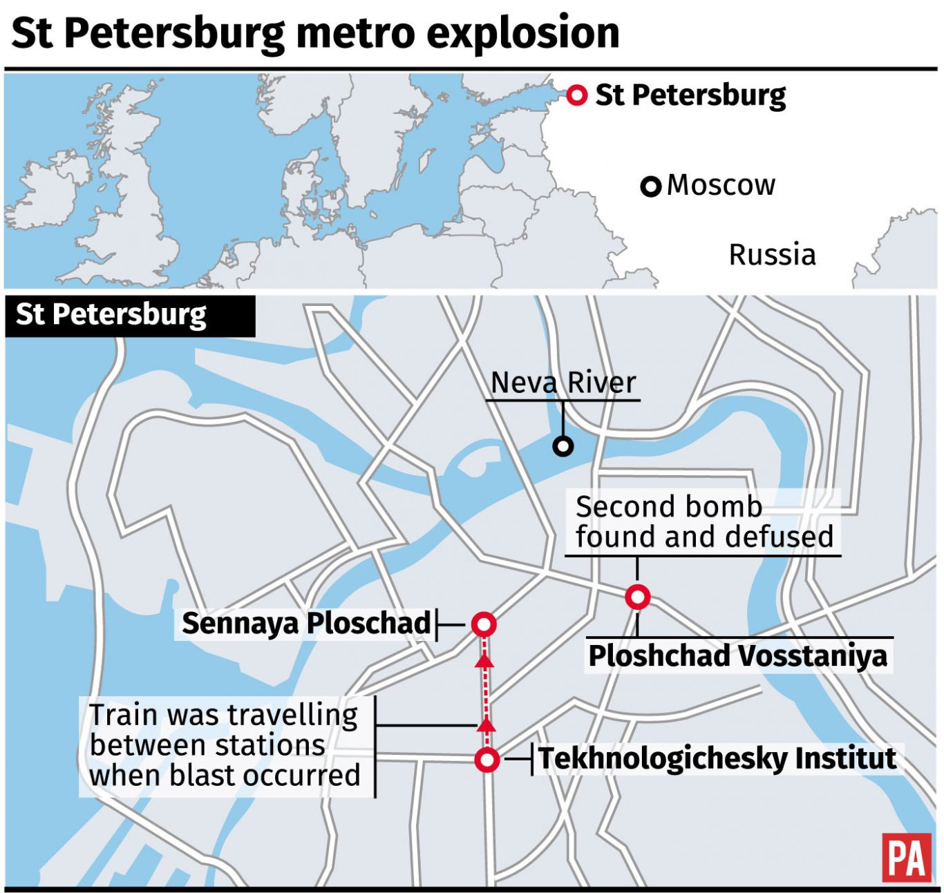 St Petersburg Russian Subway Map.11 Dead After Subway Bomb Blast In St Petersburg Oxford Mail