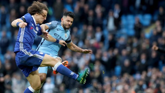 Antonio Conte: David Luiz still needs treatment after Sergio Aguero tackle