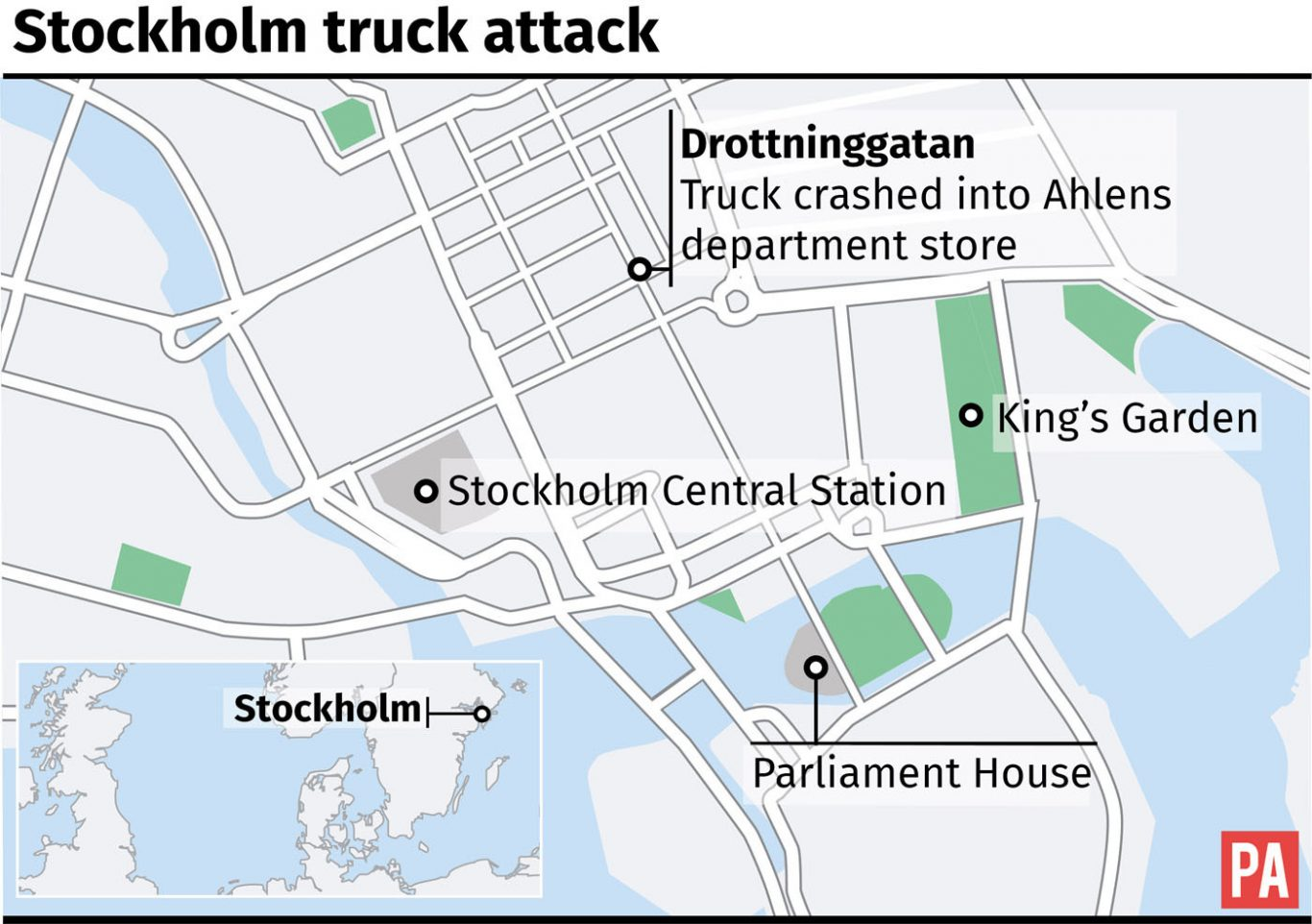 Stockholm attack Four dead after lorry ploughs through pedestrians