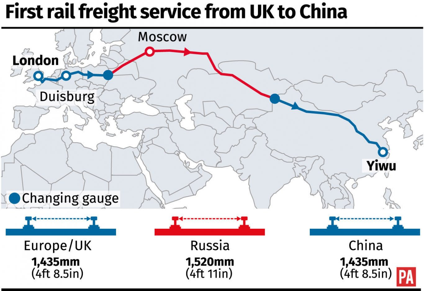 Uk china rail freight service rolls out at start of 7500 mile silk rail freight gumiabroncs Gallery